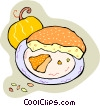 Pumpkin pie Vector Clip Art picture