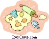baking cookies Vector Clipart picture