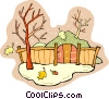 Vector Clip Art graphic  of an Autumn scene