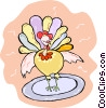 Vector Clip Art graphic  of a turkey
