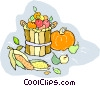 Basket of vegetables Vector Clipart illustration