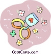 Wedding rings Vector Clip Art graphic
