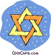 Star of David Vector Clip Art graphic