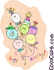 birthday balloons Vector Clipart graphic