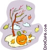 Vector Clipart picture  of a Fall scene