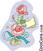 flowers with wedding bands Vector Clip Art picture