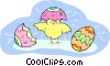 Vector Clip Art graphic  of a Easter chick