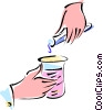 Vector Clip Art graphic  of a beakers