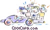race car Vector Clip Art image