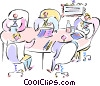 business meeting Vector Clipart illustration