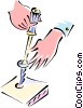 Vector Clip Art graphic  of a screw driver