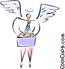 man with angel wings Vector Clipart image