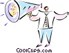 Vector Clip Art picture  of a man with megaphone