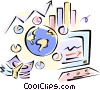 Vector Clip Art image  of a stock market