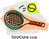Vector Clipart image  of a Balls and Rackets Racquets