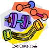 Weights and excerise equipment Vector Clipart picture