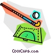 Vector Clip Art graphic  of a Field Hockey