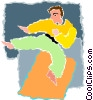 karate Vector Clipart illustration