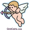 Vector Clipart picture  of a cupid