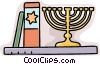menorah and bible Vector Clipart graphic