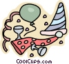 Vector Clip Art graphic  of a party supplies
