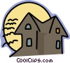 Vector Clipart graphic  of a haunted house