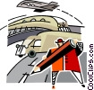Vector Clip Art image  of a transportation concept