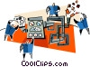 Vector Clip Art picture  of a machinery