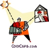 Vector Clipart image  of a solar energy