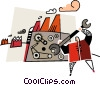 Vector Clipart graphic  of a industrial repairs