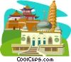 China, Ningxia Hui Autonomous Region Vector Clipart picture