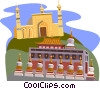 Vector Clip Art graphic  of a Xinjiang Id Kah Mosque