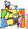 puppet show Vector Clipart illustration