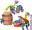 Vector Clip Art graphic  of a winemaker
