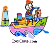 boats Vector Clipart illustration