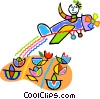 crop duster dusting crops Vector Clipart illustration