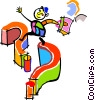 Vector Clipart graphic  of a question marks