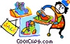Vector Clip Art graphic  of a shopping