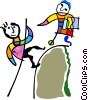 mountain climber Vector Clipart graphic