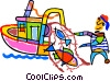 fishing boat Vector Clip Art picture