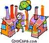 Vector Clip Art image  of a buildings