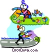 pavement and grass Vector Clip Art picture