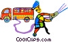 Vector Clipart picture  of a firefighter
