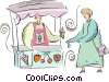 ice cream stand Vector Clipart graphic