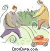 Vector Clip Art picture  of a yard work