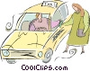 taxicabs Vector Clipart graphic