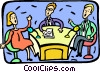 Vector Clip Art graphic  of a People debating on talk show