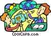News broadcaster Vector Clipart graphic