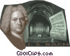 Johann Sebastian Bach Vector Clipart illustration