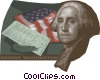 Vector Clip Art image  of a George Washington